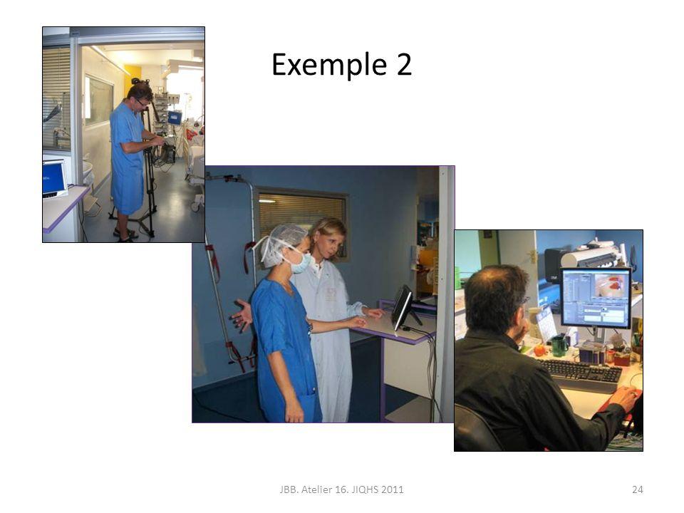 Exemple 2 JBB. Atelier 16. JIQHS 2011