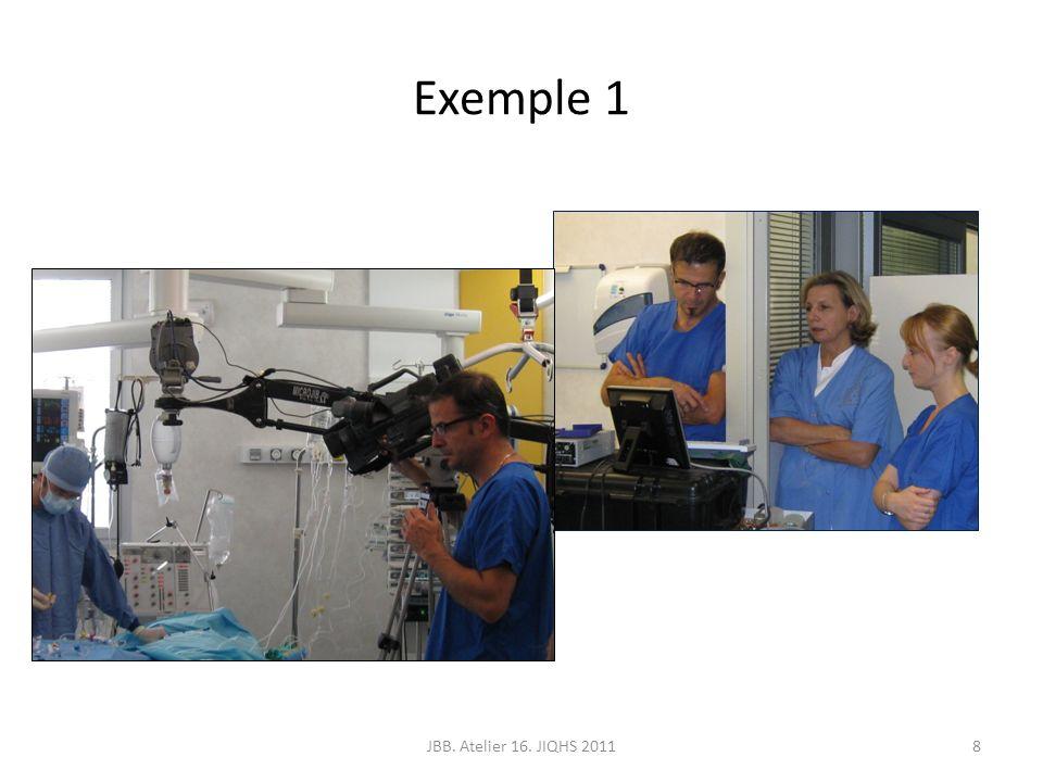 Exemple 1 JBB. Atelier 16. JIQHS 2011