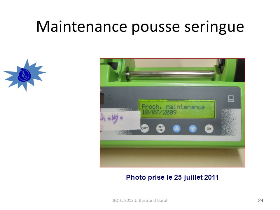 Maintenance pousse seringue