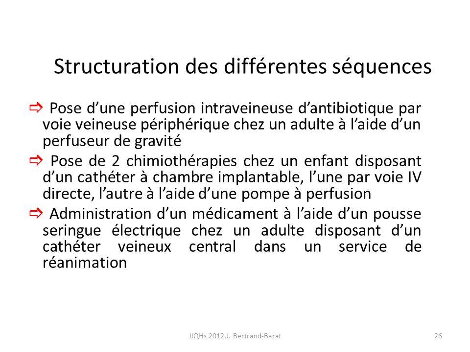 Structuration des différentes séquences
