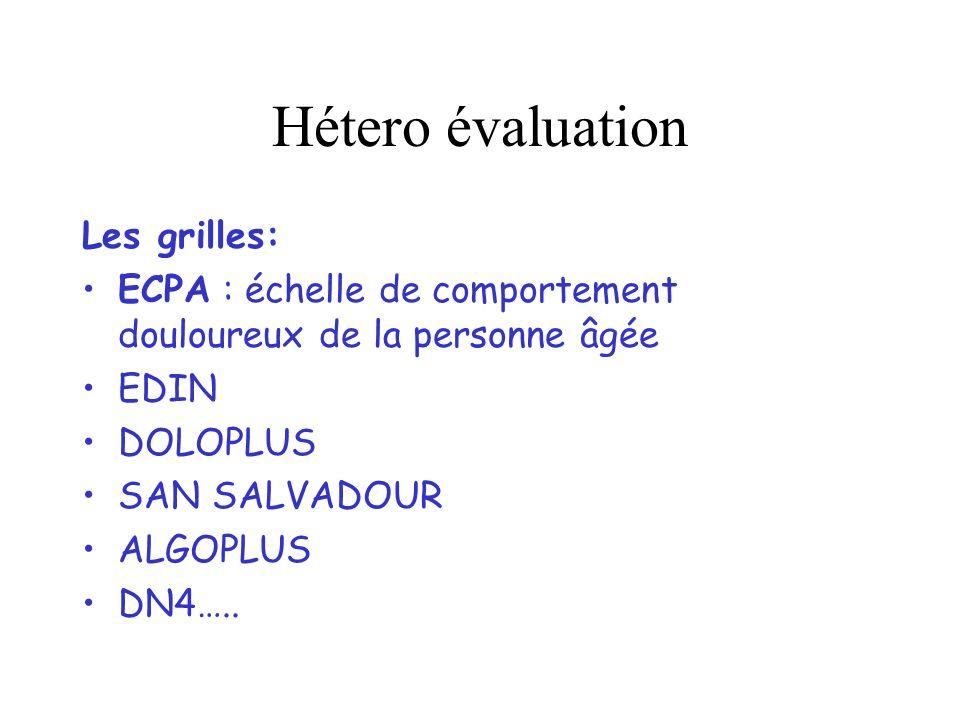 Hétero évaluation Les grilles: