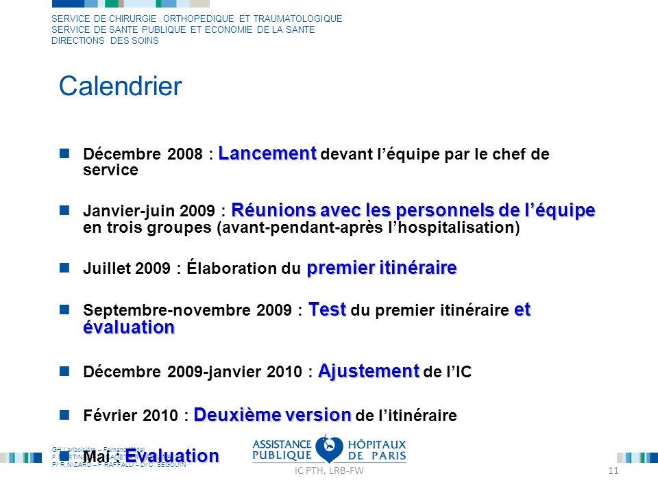 CalendrierDécembre 2008 : Lancement devant l'équipe par le chef de service.