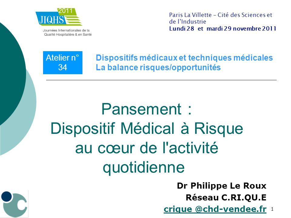 Dr Philippe Le Roux Réseau C.RI.QU.E crique @chd-vendee.fr