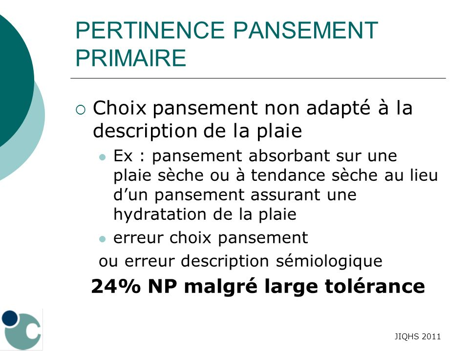 PERTINENCE PANSEMENT PRIMAIRE