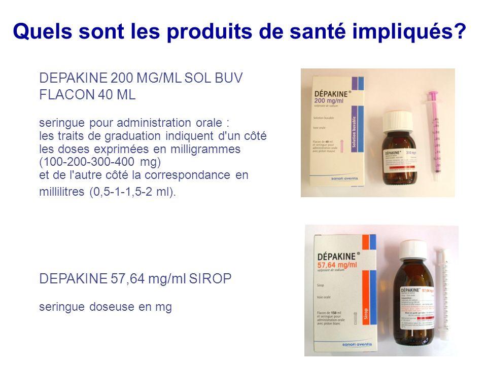 Quels sont les produits de santé impliqués