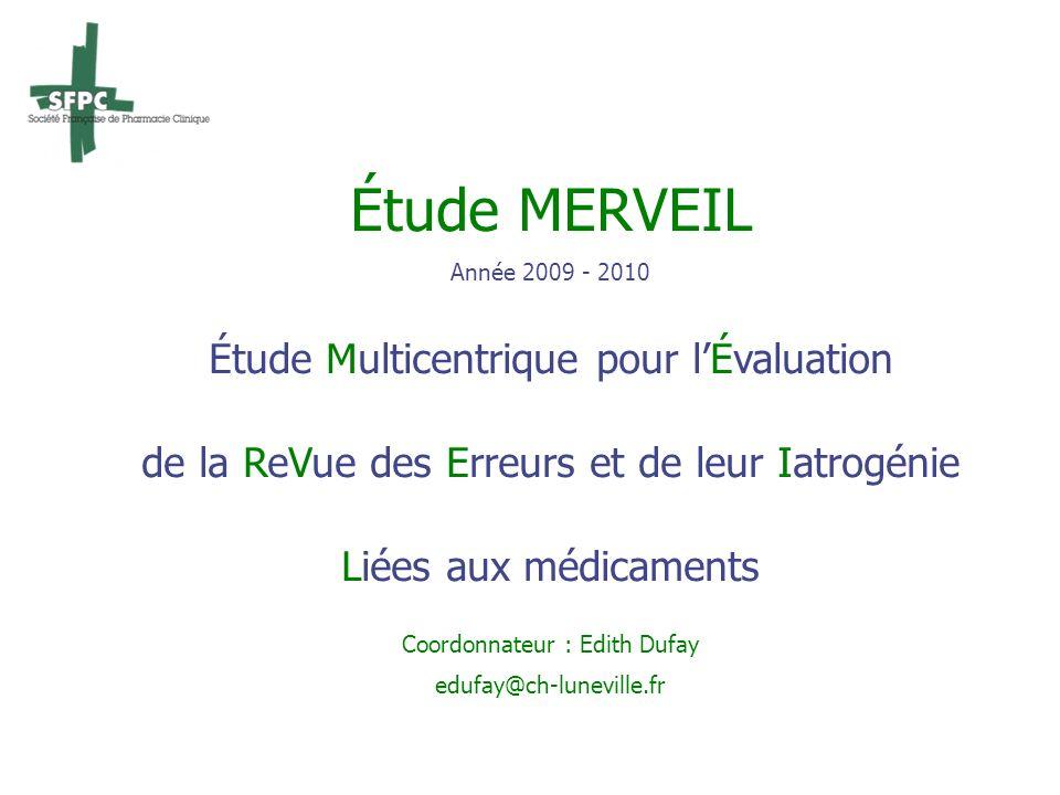 Étude MERVEIL Étude Multicentrique pour l'Évaluation