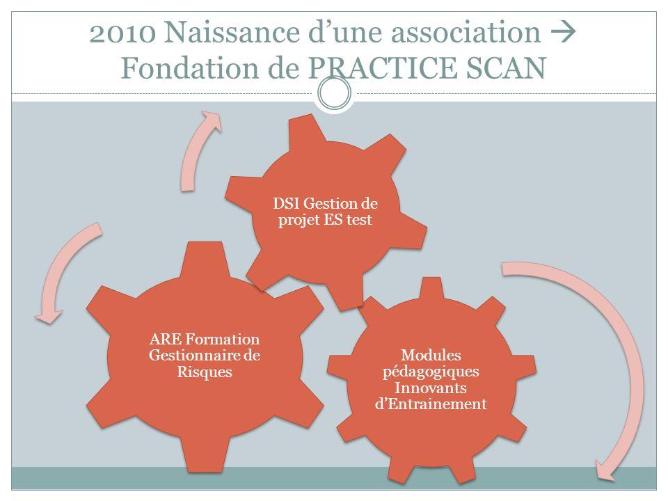 2010 Naissance d'une association  Fondation de PRACTICE SCAN