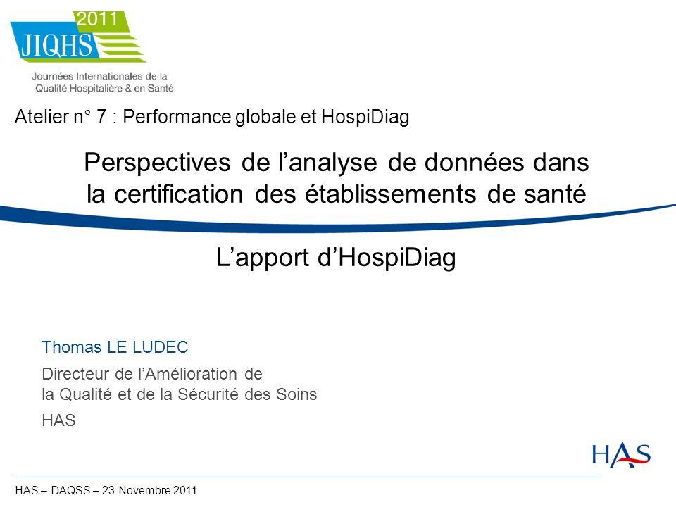 Atelier n° 7 : Performance globale et HospiDiag