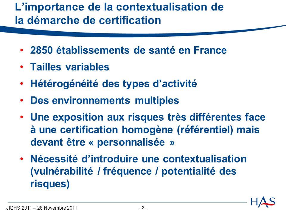L'importance de la contextualisation de la démarche de certification