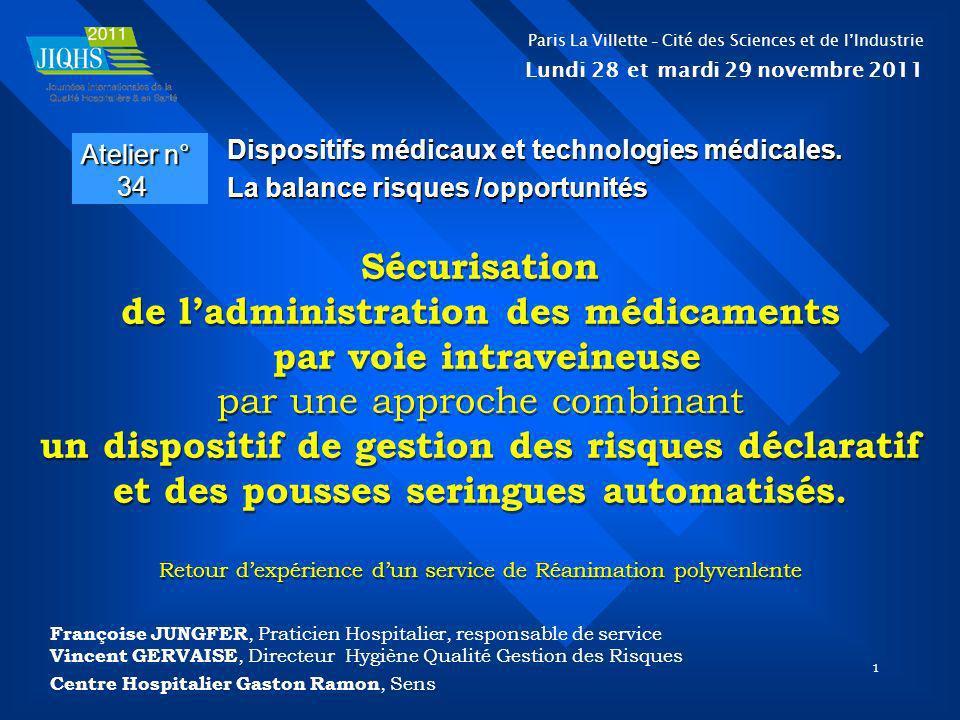 Sécurisation de l'administration des médicaments