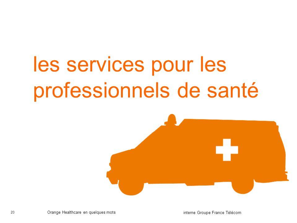 les services pour les professionnels de santé