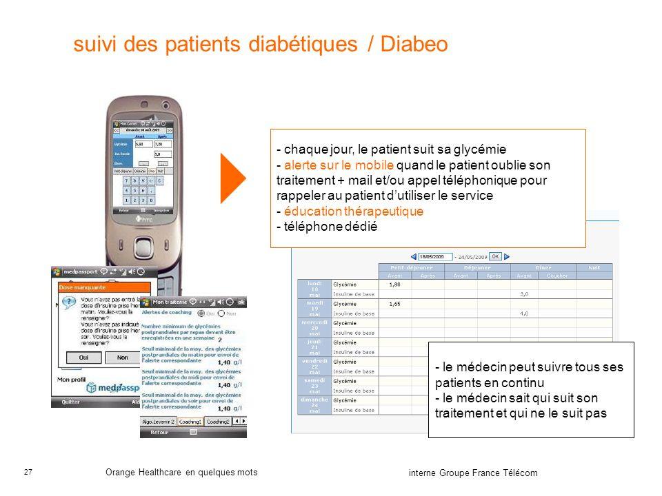 suivi des patients diabétiques / Diabeo