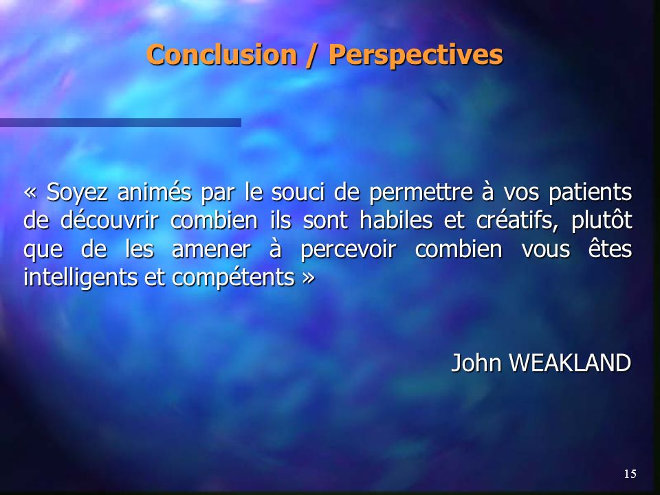 Conclusion / Perspectives