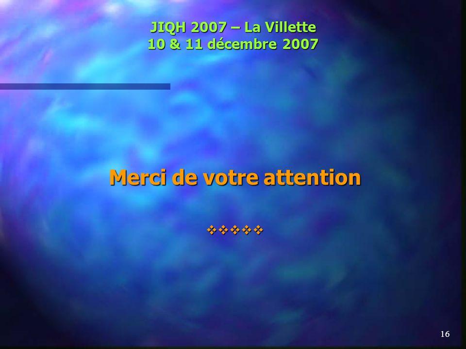JIQH 2007 – La Villette 10 & 11 décembre 2007