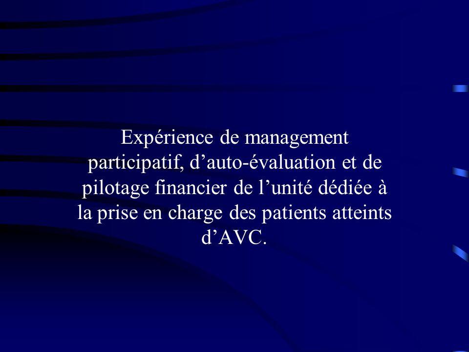 Expérience de management participatif, d'auto-évaluation et de pilotage financier de l'unité dédiée à la prise en charge des patients atteints d'AVC.