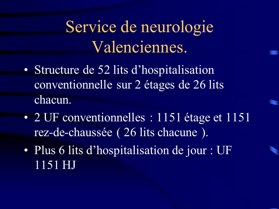 Service de neurologie Valenciennes.