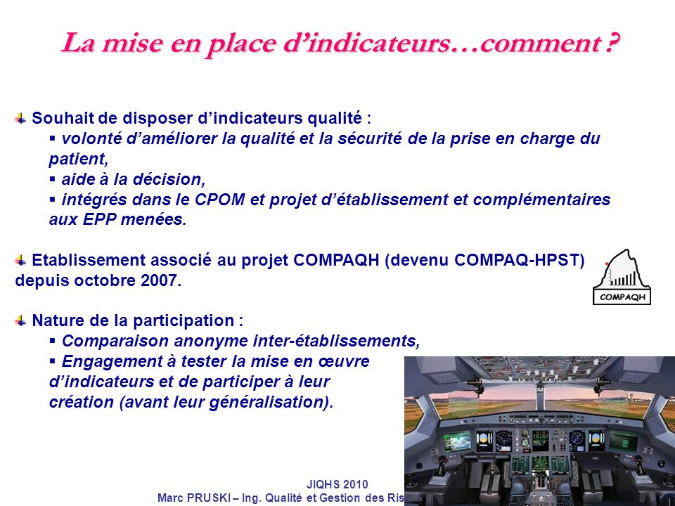 La mise en place d'indicateurs…comment