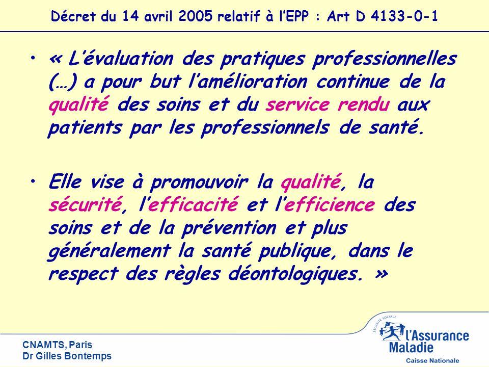 Décret du 14 avril 2005 relatif à l'EPP : Art D 4133-0-1