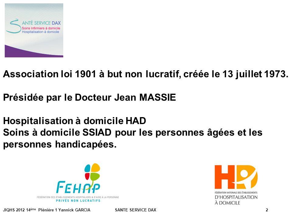 PrésentationAssociation loi 1901 à but non lucratif, créée le 13 juillet 1973. Présidée par le Docteur Jean MASSIE.