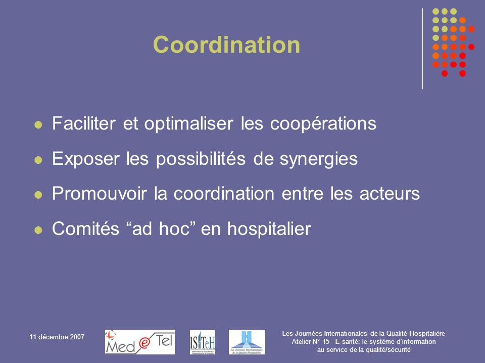 Coordination Faciliter et optimaliser les coopérations