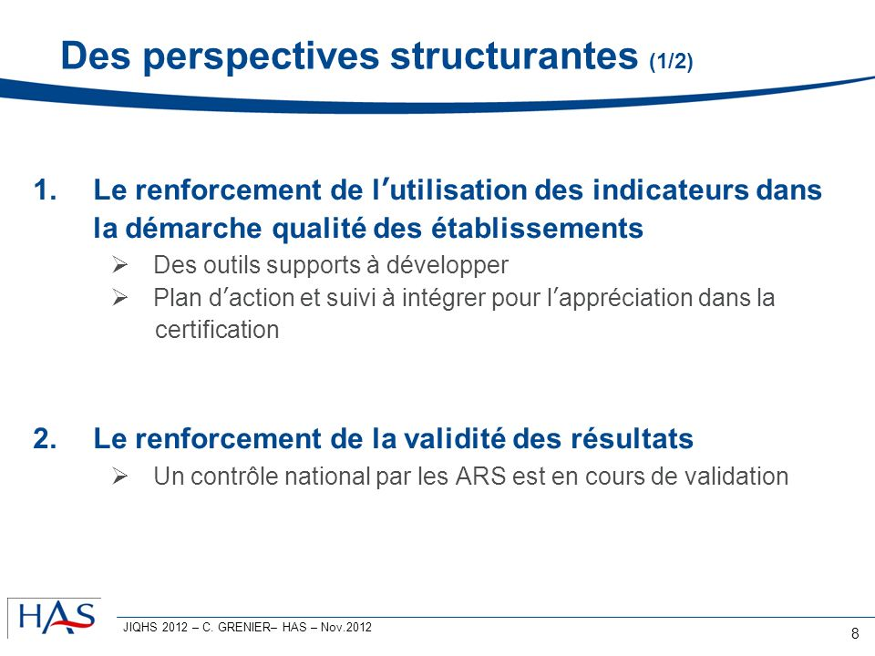 Des perspectives structurantes (1/2)