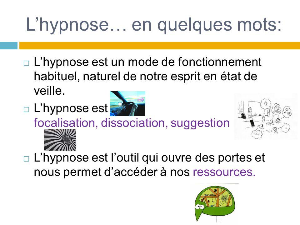 L'hypnose… en quelques mots: