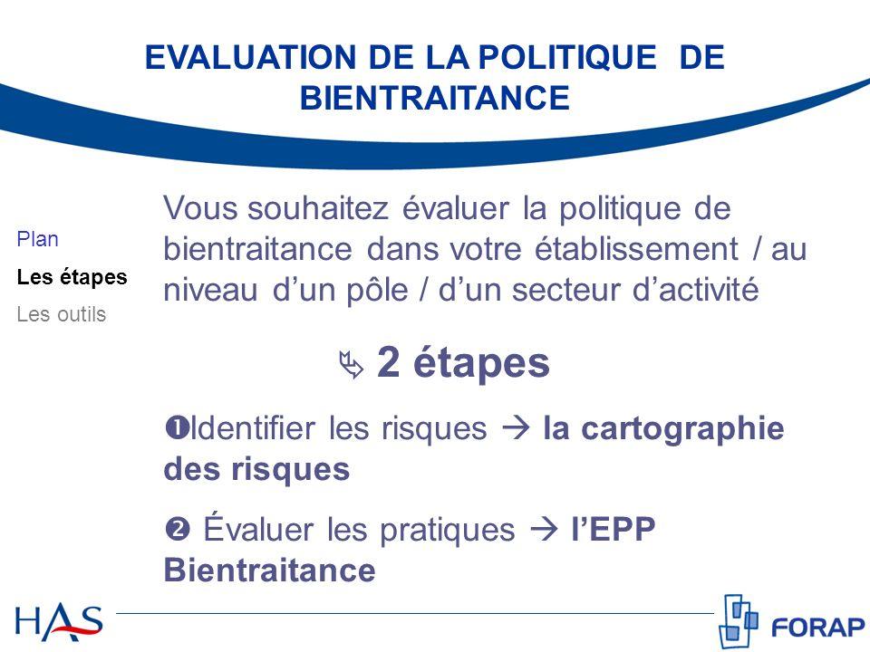 EVALUATION DE LA POLITIQUE DE BIENTRAITANCE