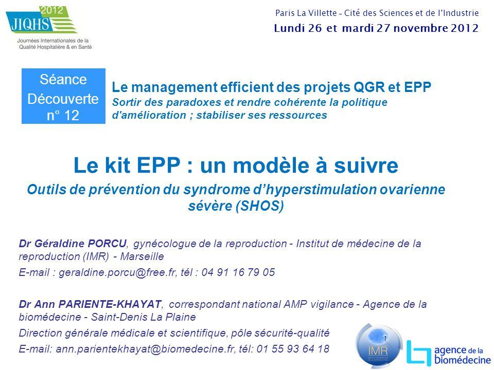 Le kit EPP : un modèle à suivre