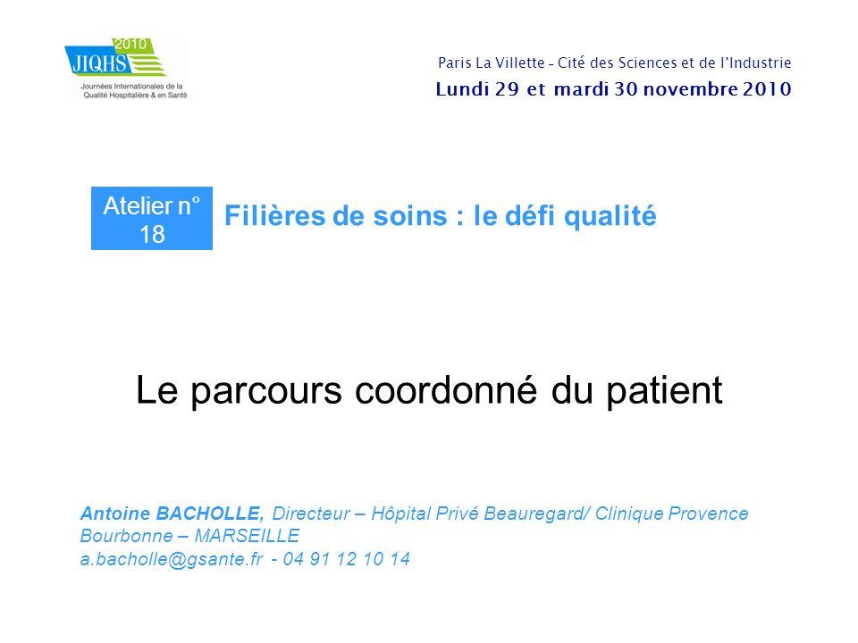 Le parcours coordonné du patient