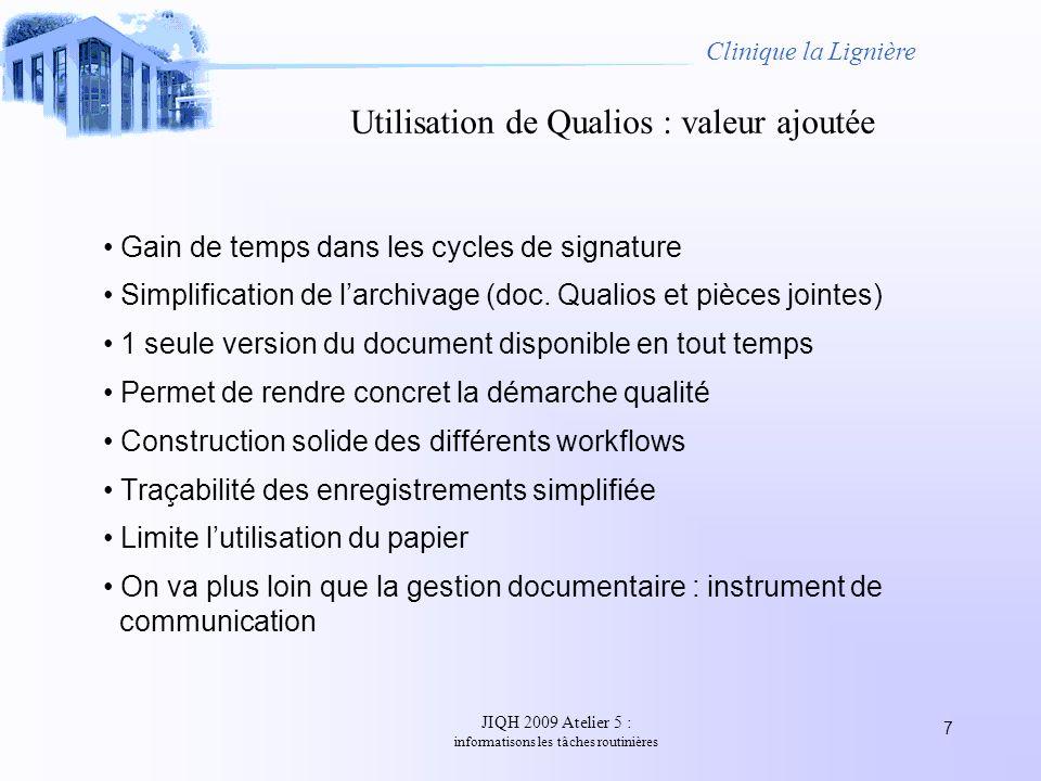 Utilisation de Qualios : valeur ajoutée