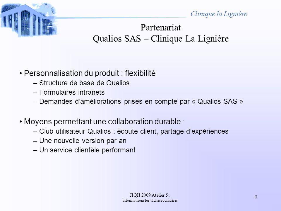 Partenariat Qualios SAS – Clinique La Lignière