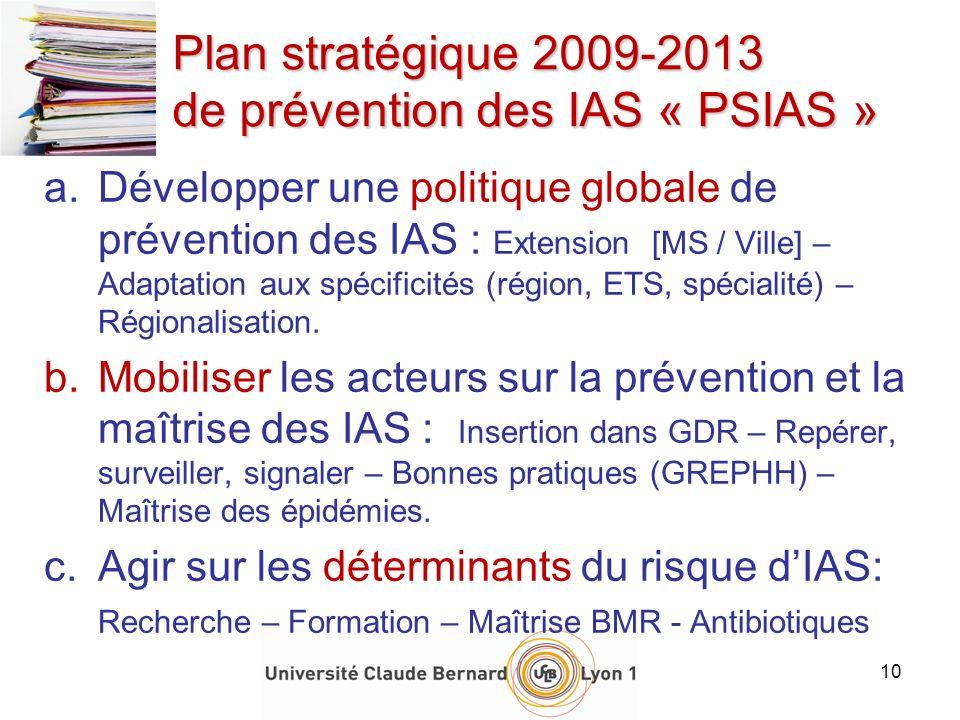 Plan stratégique 2009-2013 de prévention des IAS « PSIAS »