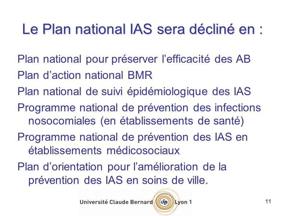 Le Plan national IAS sera décliné en :