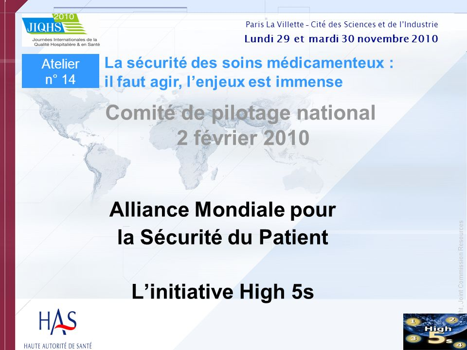 Comité de pilotage national Alliance Mondiale pour