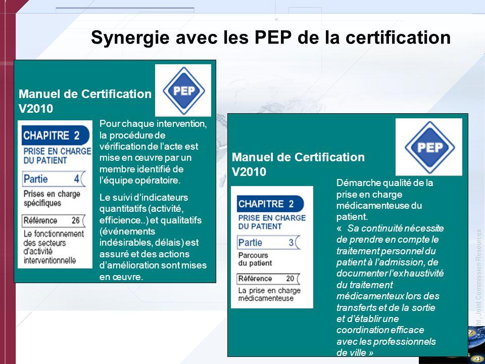 Synergie avec les PEP de la certification