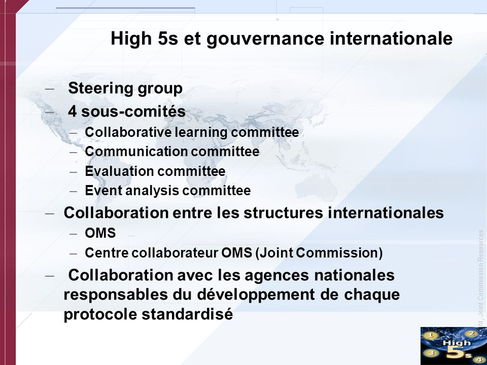 High 5s et gouvernance internationale