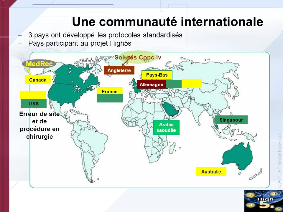 Une communauté internationale