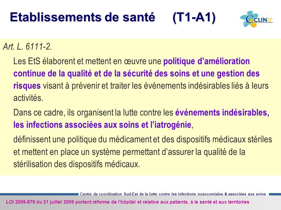 Etablissements de santé (T1-A1)