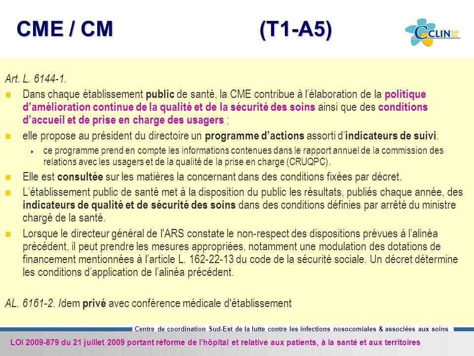 CME / CM (T1-A5) Art. L. 6144-1.