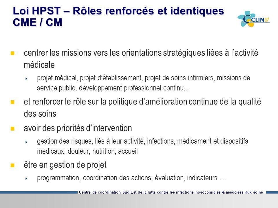 Loi HPST – Rôles renforcés et identiques CME / CM