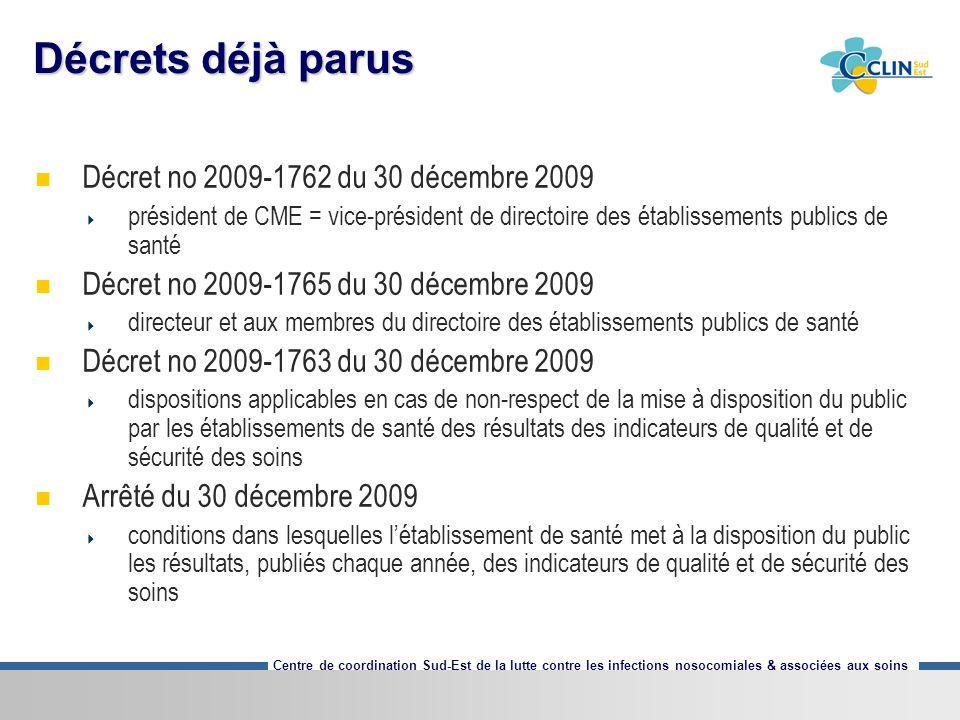 Décrets déjà parus Décret no 2009-1762 du 30 décembre 2009