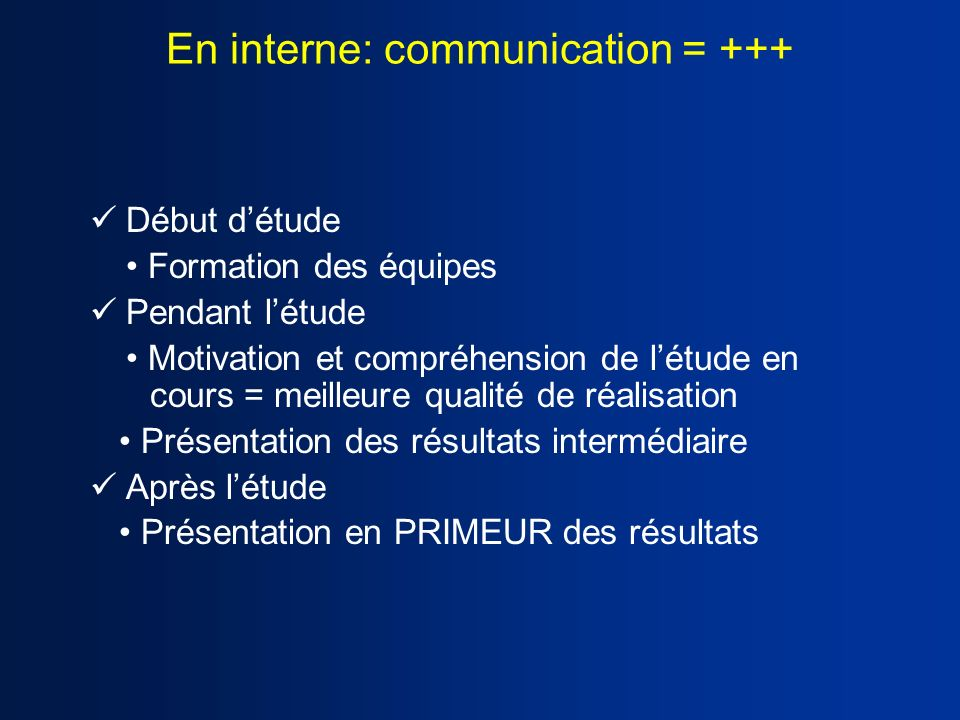 En interne: communication = +++