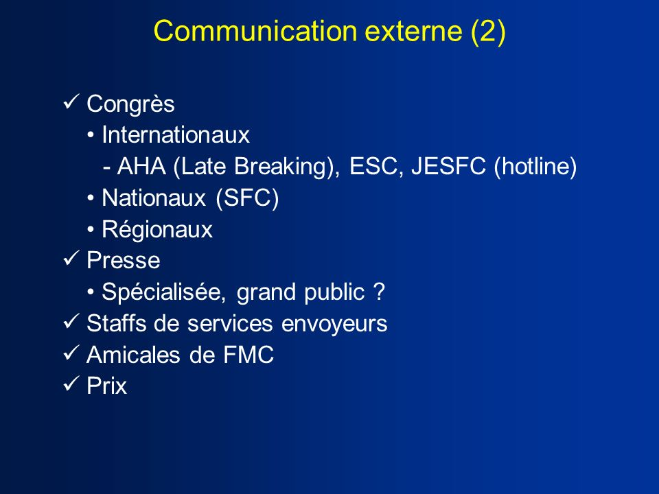 Communication externe (2)