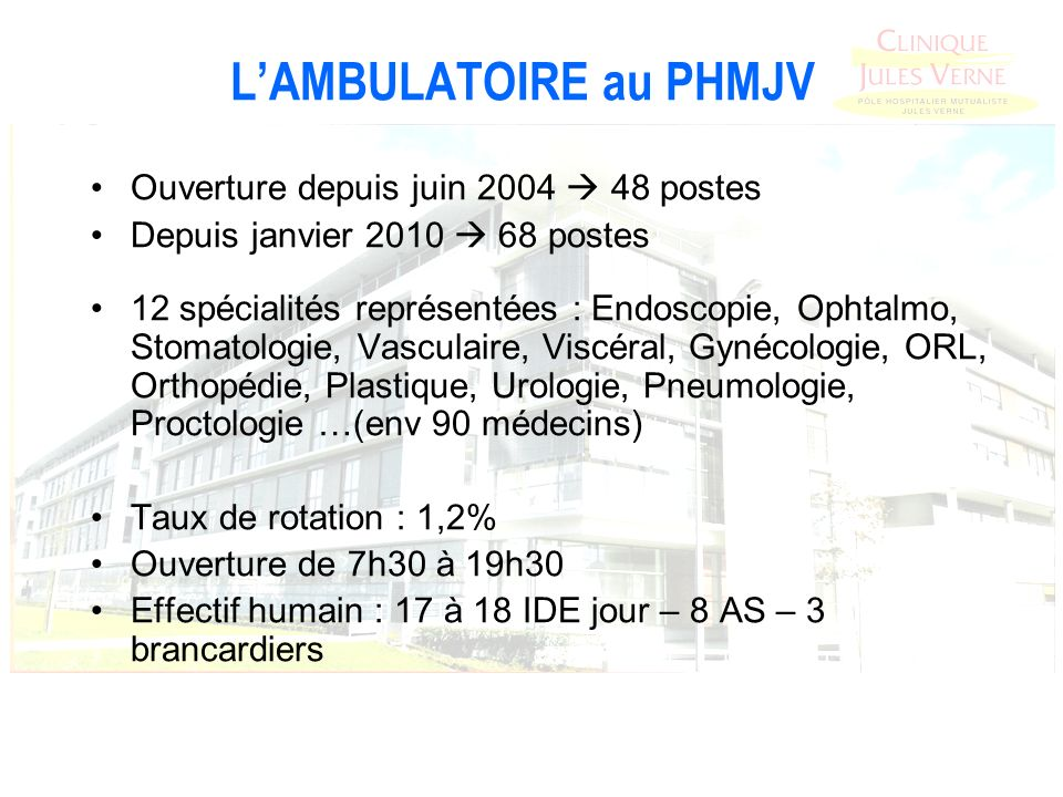 L'AMBULATOIRE au PHMJV