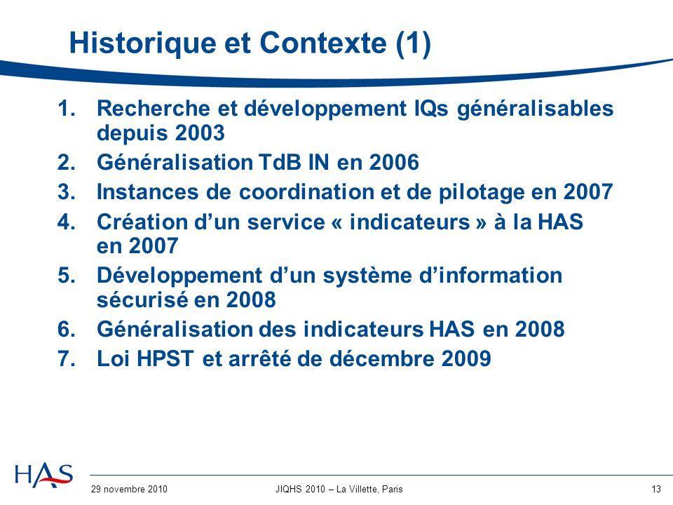 Historique et Contexte (1)