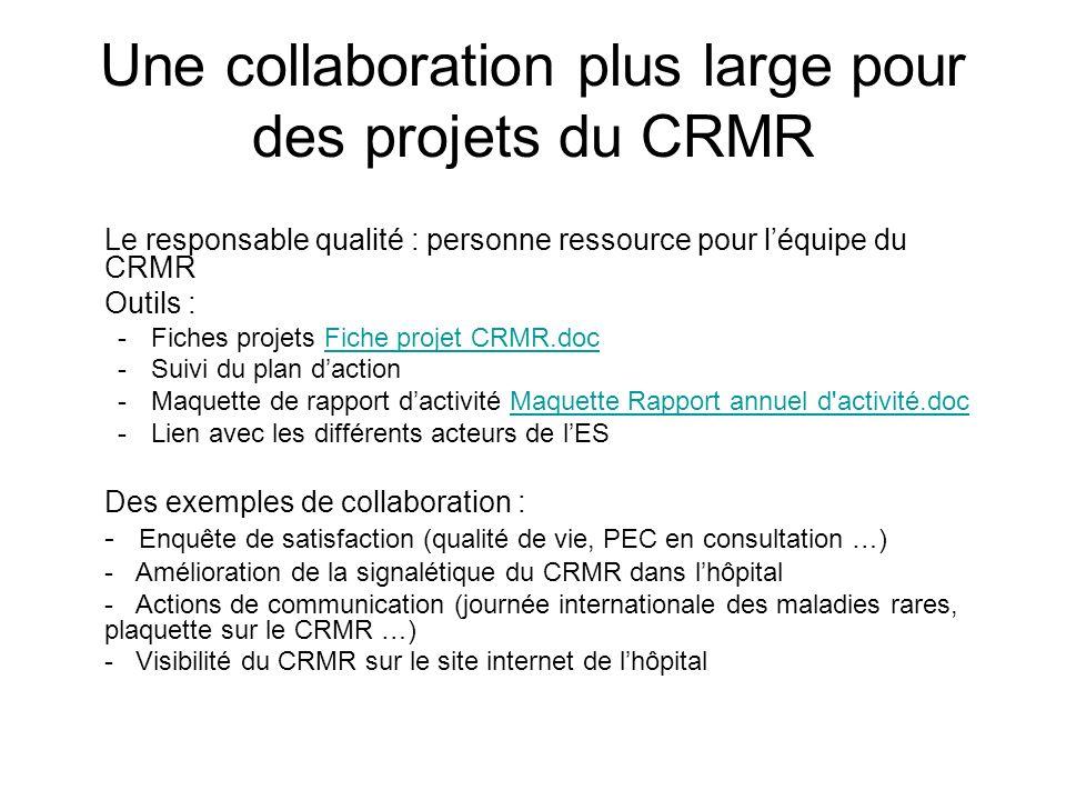 Une collaboration plus large pour des projets du CRMR