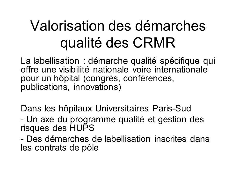 Valorisation des démarches qualité des CRMR