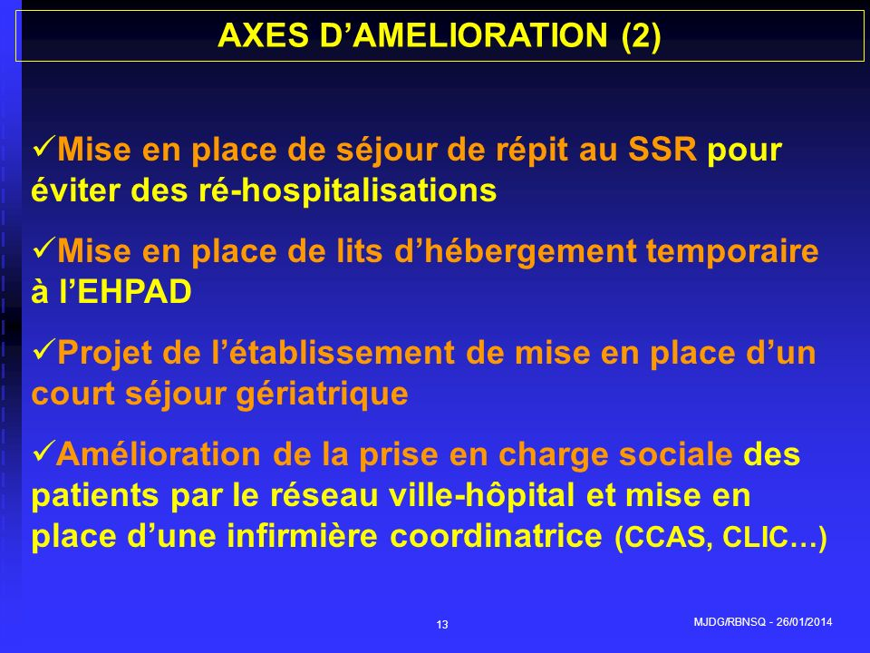 AXES D'AMELIORATION (2)