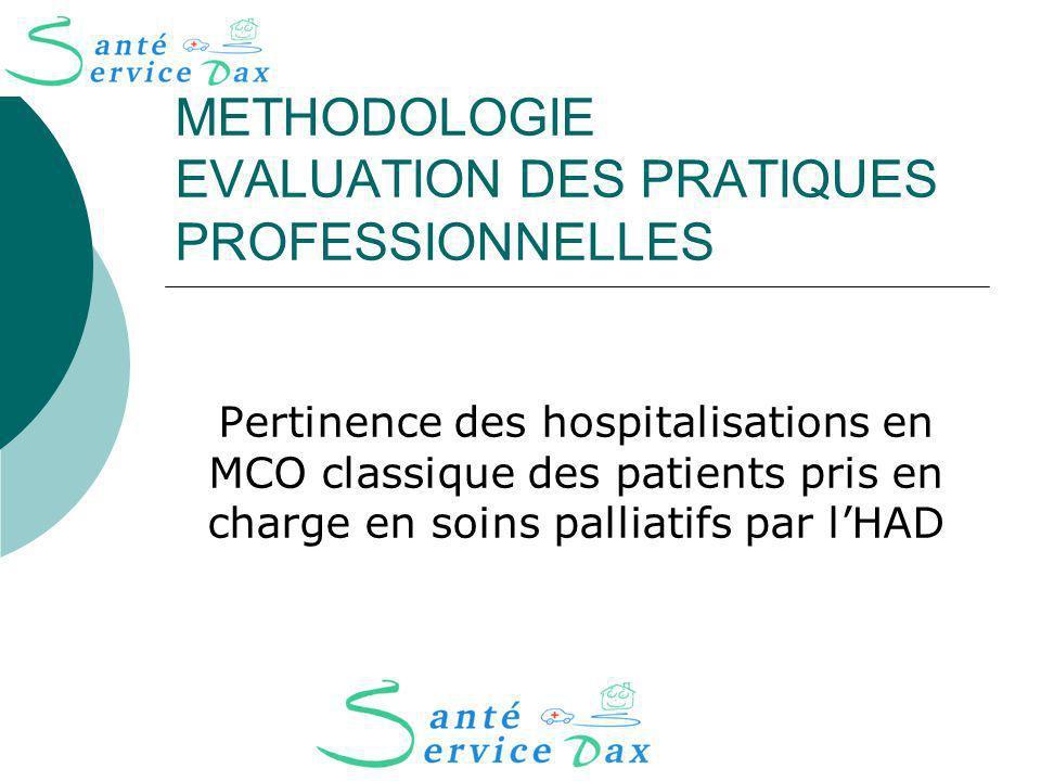 METHODOLOGIE EVALUATION DES PRATIQUES PROFESSIONNELLES