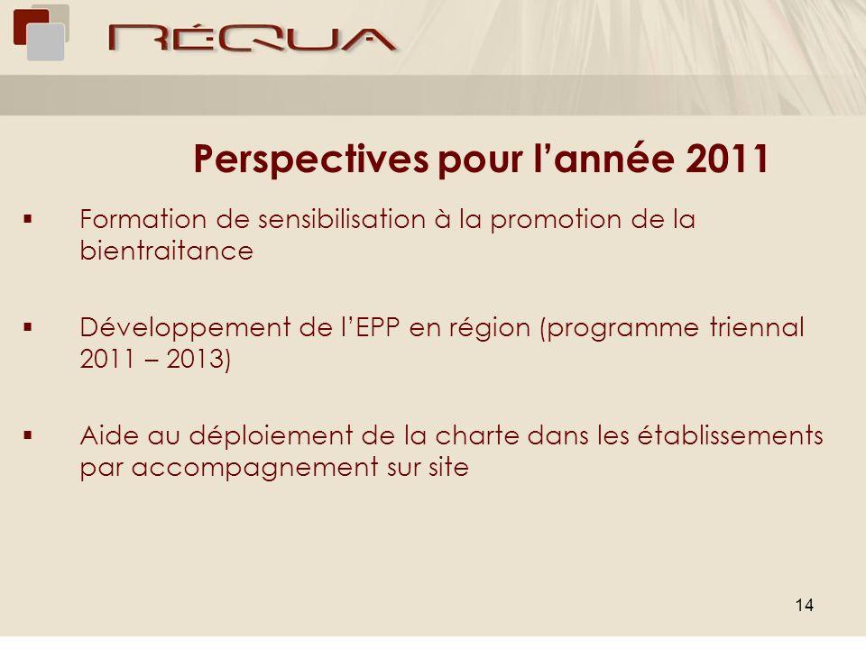 Perspectives pour l'année 2011